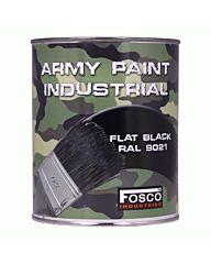 Fosco Blik legerverf 1 liter Zwart