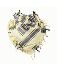 Arafat PLO sjaal zwart/zand