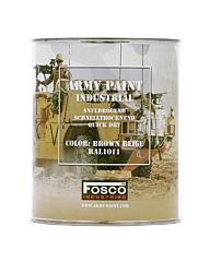 Fosco Blik legerverf 1 liter Brown beige