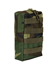 101inc Molle pouch Upright woodland camo