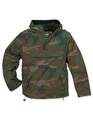 Surplus anorak windbreaker jack woodland camo