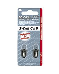 Maglite reserve lampje 2 C-D cell 2stuks