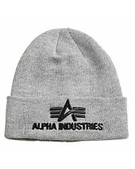 Alpha Industries 3D Beanie heather grey