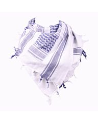 Arafat PLO sjaal blauw/wit
