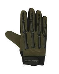 Makhai Finger Bone Gloves zwart/groen