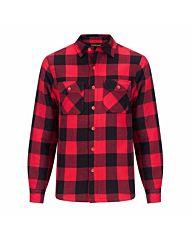 Life-Line Joris Overhemd Gevoerd rood