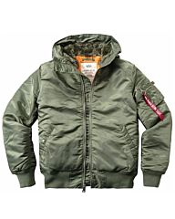 Alpha Industries MA-1 Hooded Bomberjack sage green