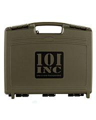 101inc Pistol Case with pre-cut foam groen