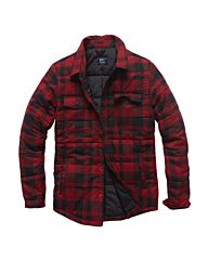Vintage Industries Square padded shirt rood