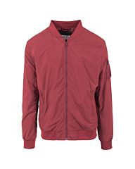 Urban Classics Light Bomber Jacket Burgundy Red