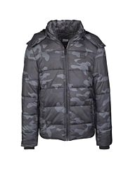 Urban Classics Hooded Puffer Jacket Camo dark camo