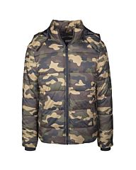 Urban Classics Hooded Puffer Jacket Camo woodland camo
