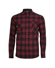 Urban Classics Checked Flanell Shirt black/burgundy