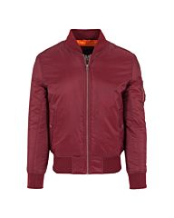 Urban Classics Basic Bomber Jacket Burgundy Red