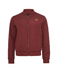 Urban Classics Diamond Quilt Nylon BomberJacket Burgundy Red