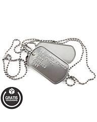 Dog-tags US Army bedrukt met eigen tekst naar keuze