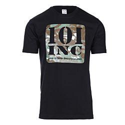 101inc T-shirt Camo print zwart