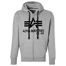 Alpha Industries Big A Classic Zip Hoody heather grey