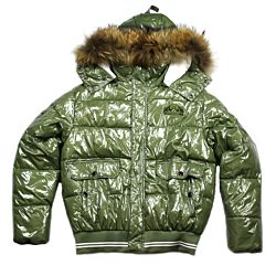 PuPha'Polo Monki bomber hooded racoon army green