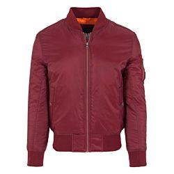 Urban Classics Basic Bomber Jacket Burgundy Red