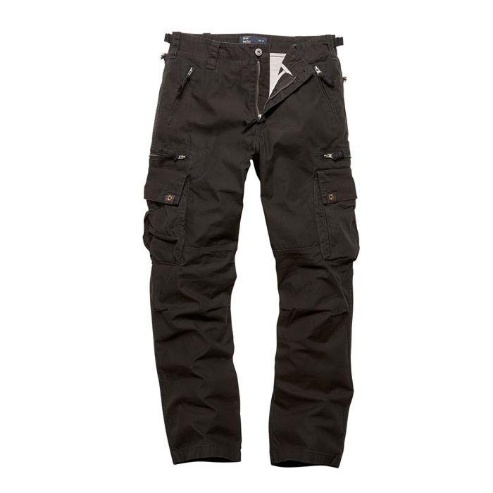Vintage Industries Rico pantalon zwart
