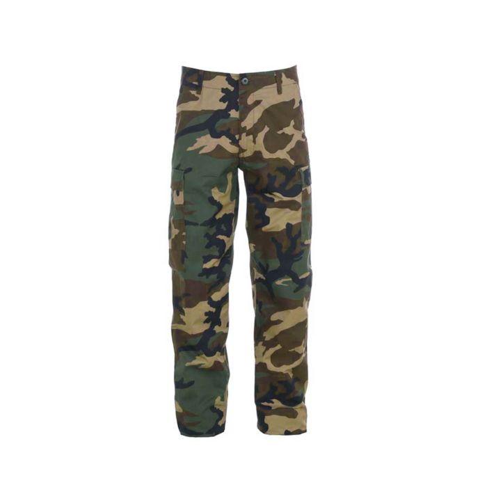 Fostex militaire kinder broek woodland camo