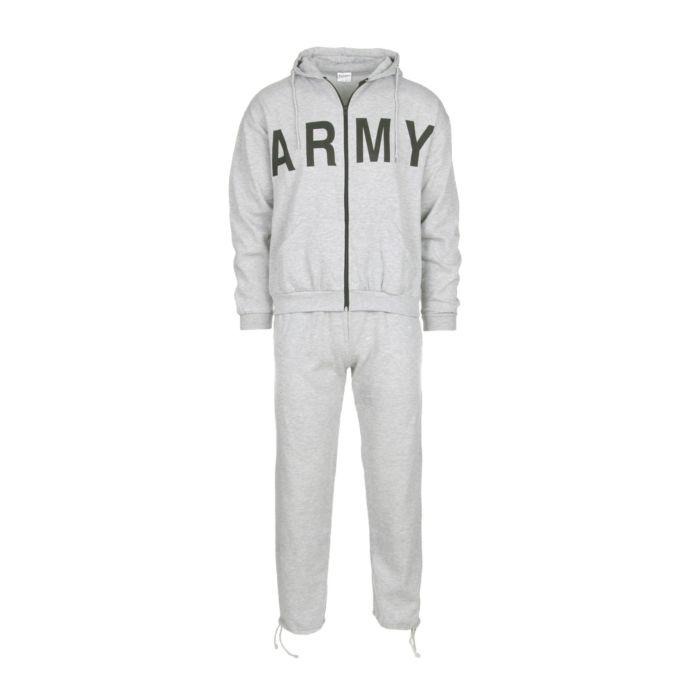 Fostex Joggingpak (trainingspak) ARMY grijs melee