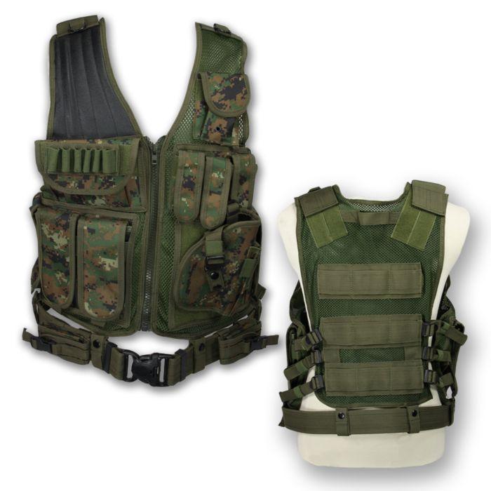 Tactical vest Predator digital WDL camo