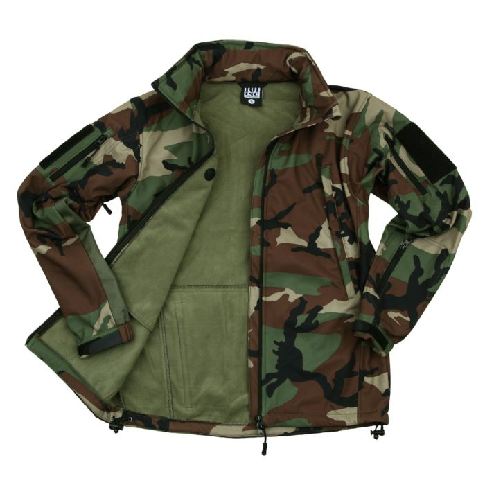 101inc Softshell Jacket Tactical woodland camo