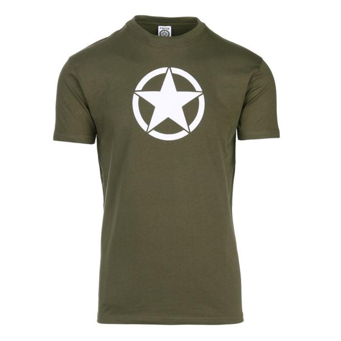 Fostex T-shirt legergroen met witte ster US Army