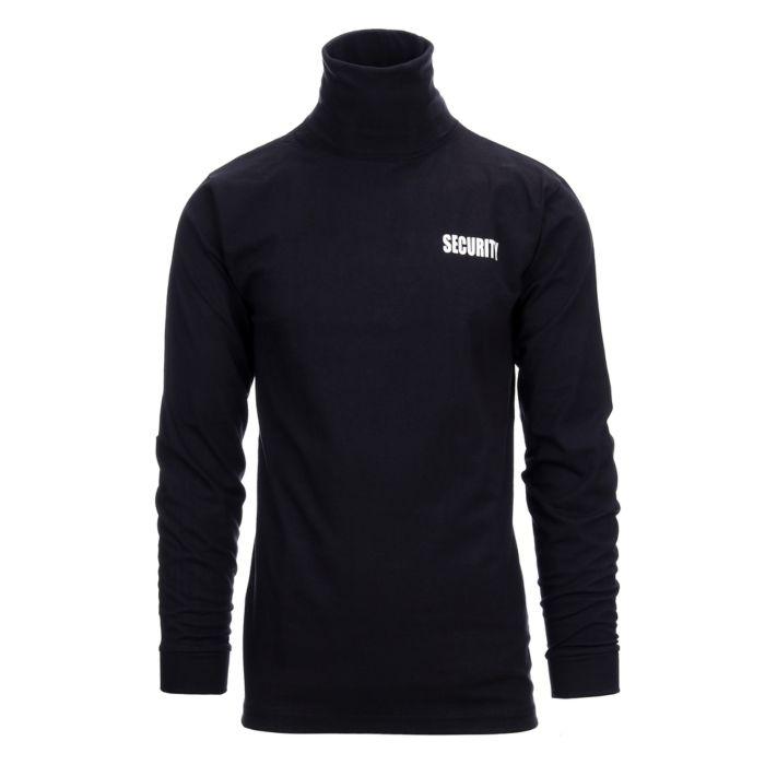 T-shirt security lange mouw+kolletje zwart