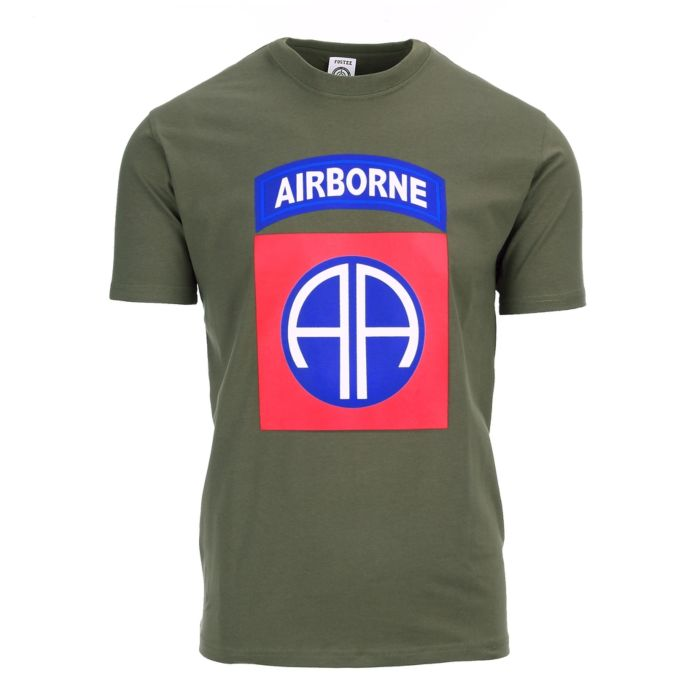 Fostex T-shirt 82nd Airborne Big Logo groen
