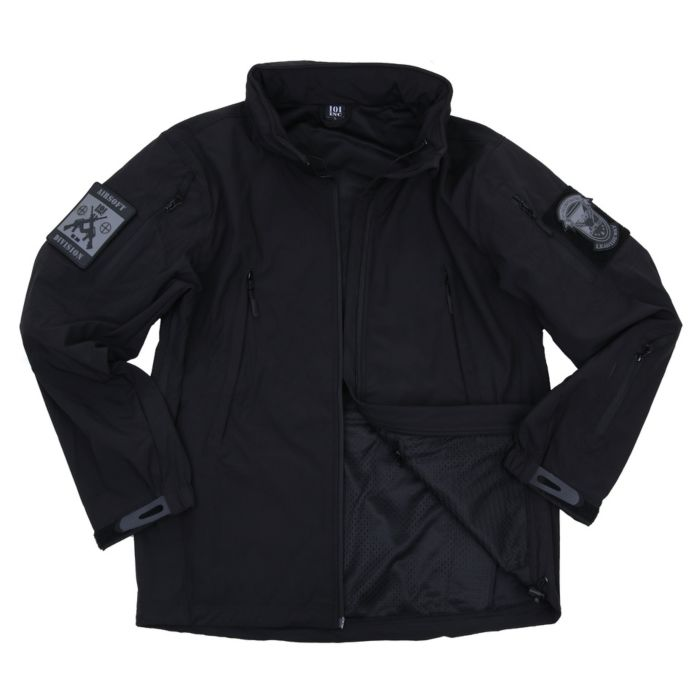 101inc Softshell Jack Tactical new version zwart