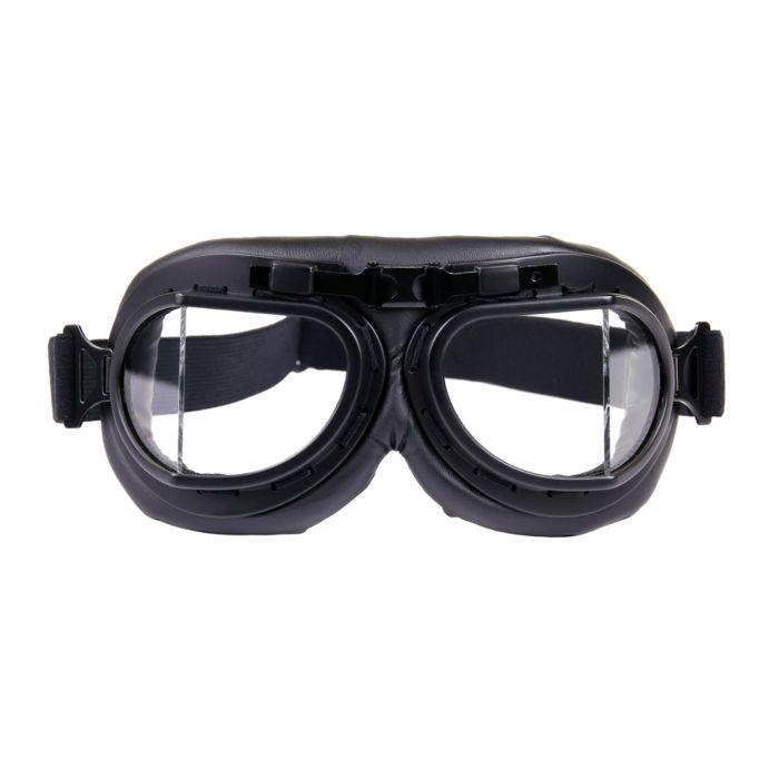 Motor/piloten stofbril zwart