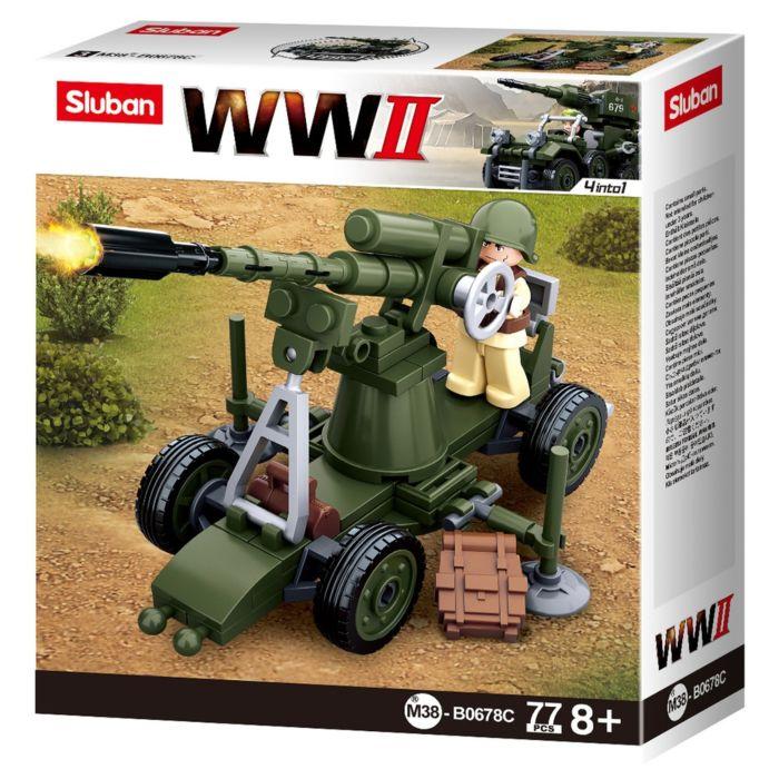 Sluban WWII Allied Anti-Aircraft Gun M38-B0678C