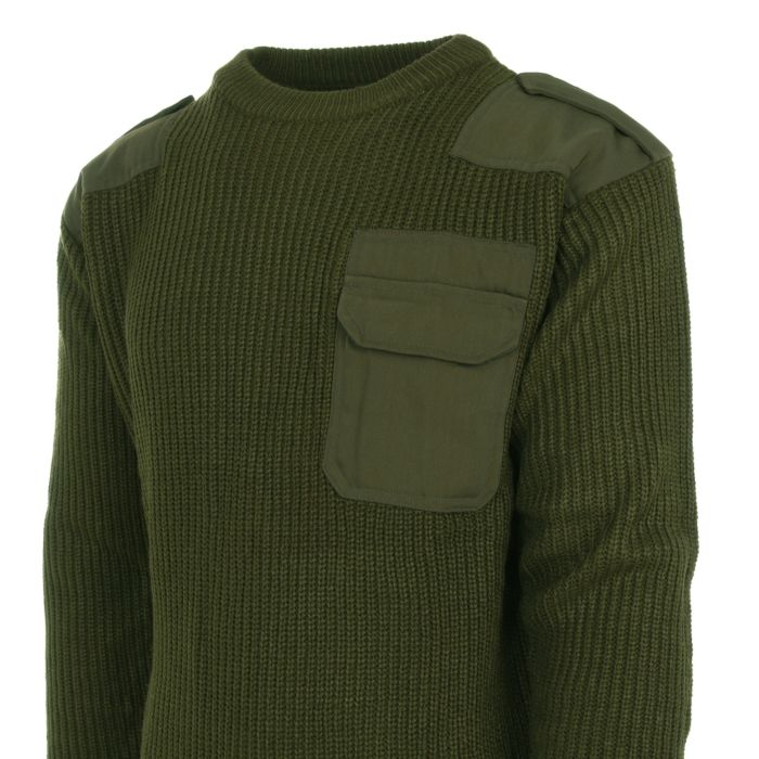 Commando trui groen acryl