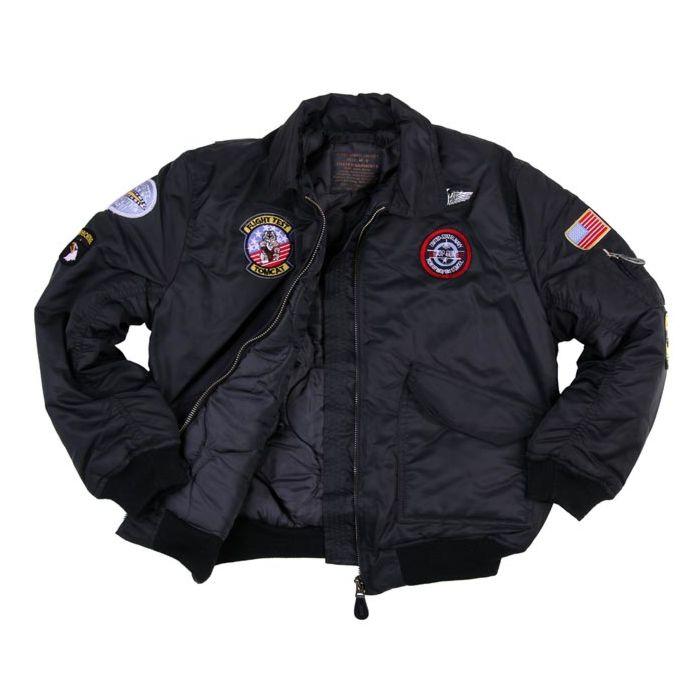 Fostex kinder CWU bomber jack zwart