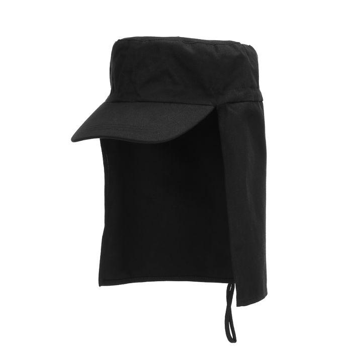 Fostex pet met nekflap zwart
