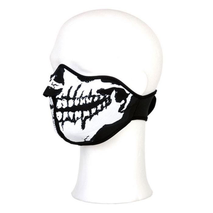 Biker Mask Neoprene half face white mouth