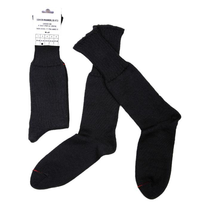 Leger sokken zwart 70% wol