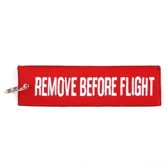 Sleutelhanger Remove Before Flight groot