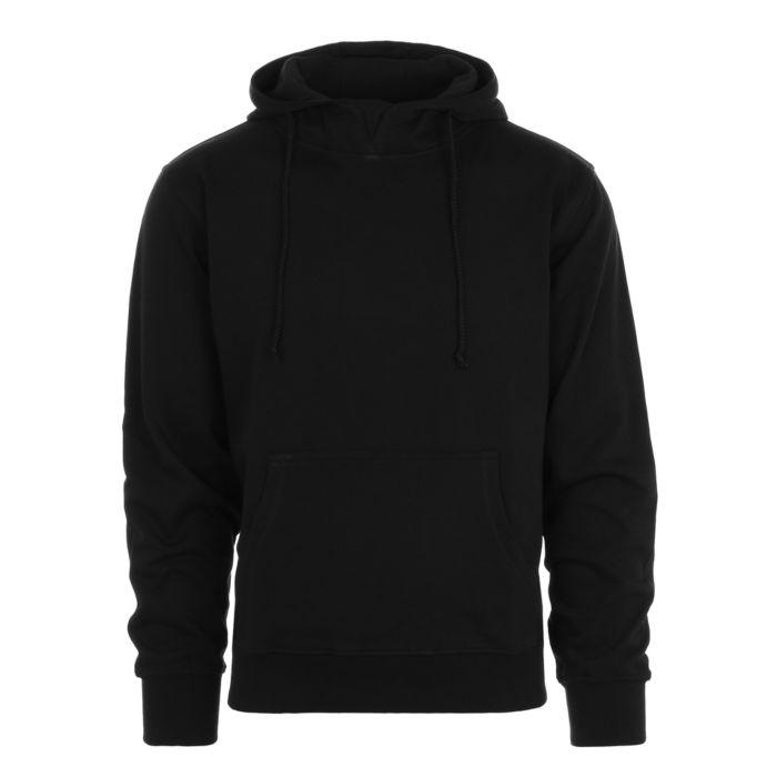 Hooded sweater zonder rits zwart