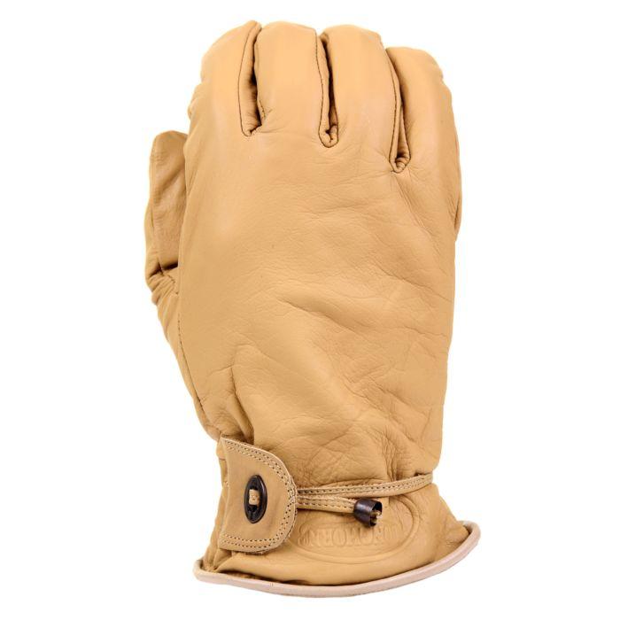 Longhorn leren handschoenen beige