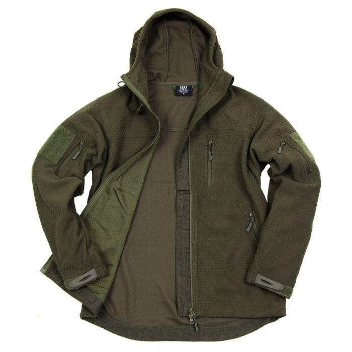 101inc Hexagon Fleece vest groen