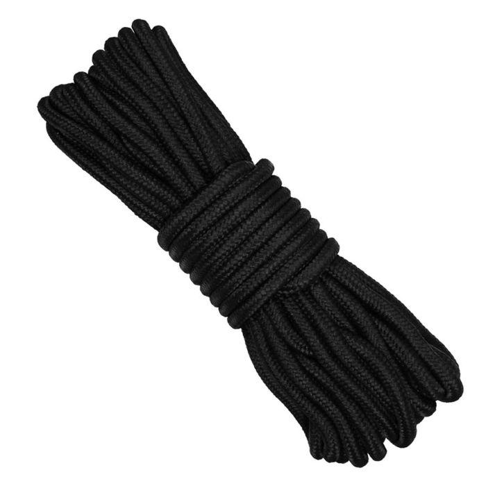 Bundel nylon touw 9mm/15mtr zwart