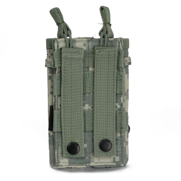 101Inc Molle pouch Sidearm 2 Mag. C digital ACU camo