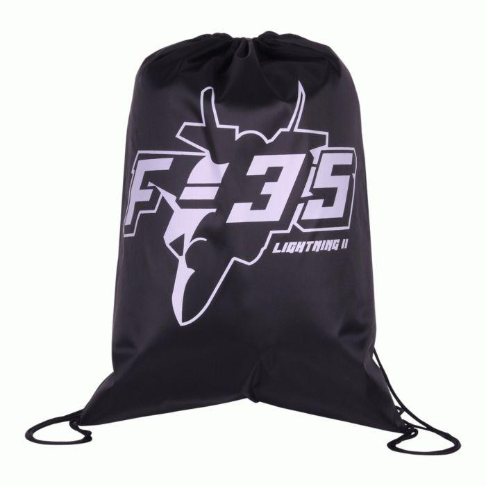 101inc Drawstring Bag F-35 zwart