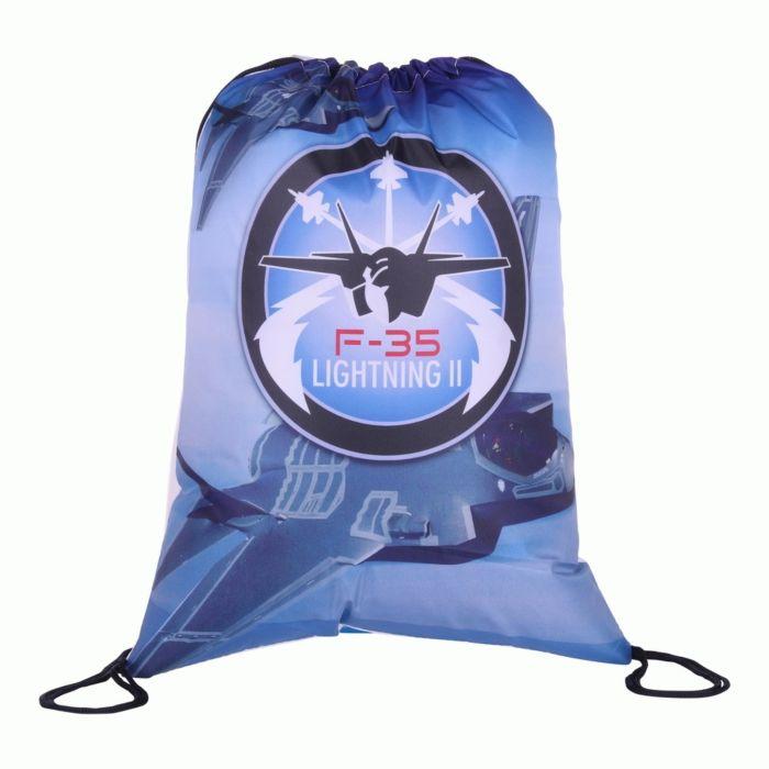 101inc Drawstring Bag F-35 blauw