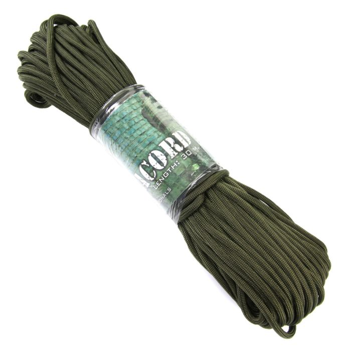 101inc Paracord 7 strings 30mtr groen