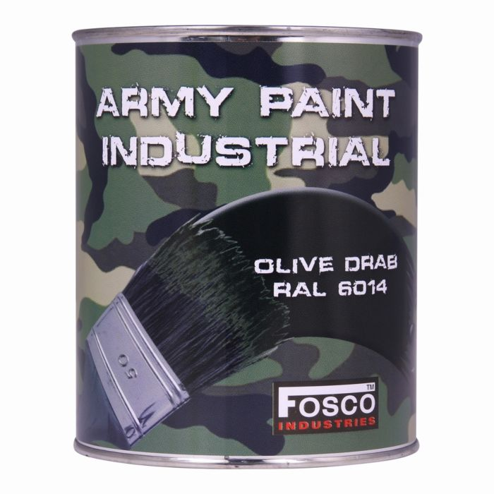 Fosco Blik legerverf 1 liter Olive drab (legergroen)